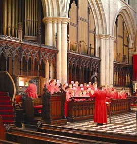 Rehearsal - Bridlington Priory Choir