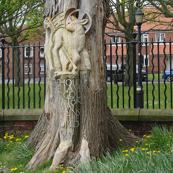 Lamb of God Tree Sculpture