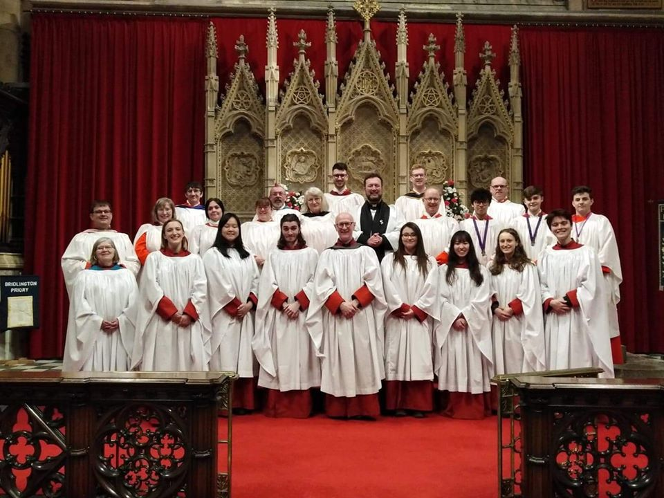 Leeds Minster Choral Scholars join the adults of Bridlington Priory Choir to sing Choral Evensong.