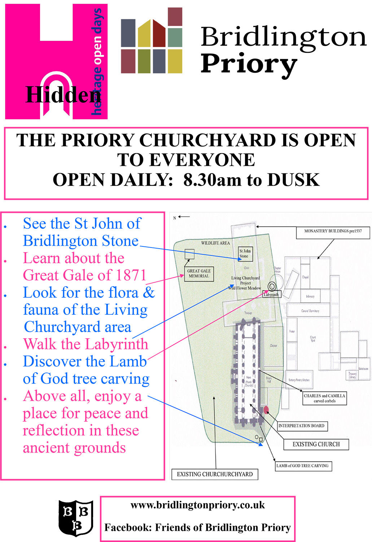 Bridlington Priory Churchyard - Heritage Open Days 2020
