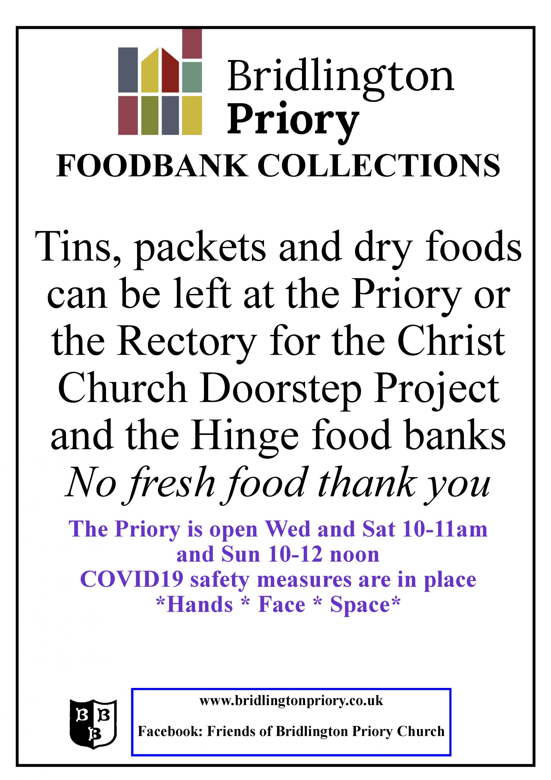 Food Bank Collections - Bridlington Priory