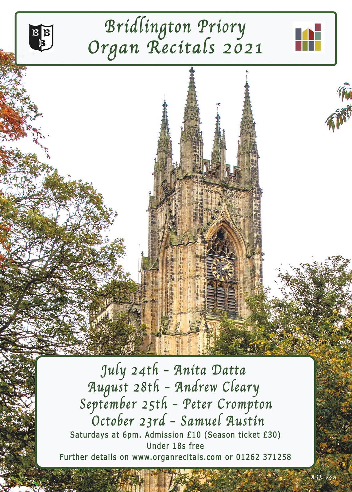 Bridlington Priory - Organ Recitals 2021