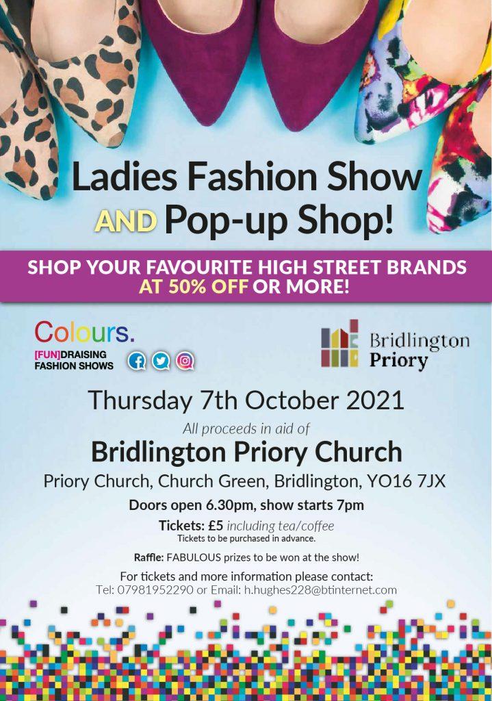 Poster - Ladies Fashion Show at Bridlington Priory Church